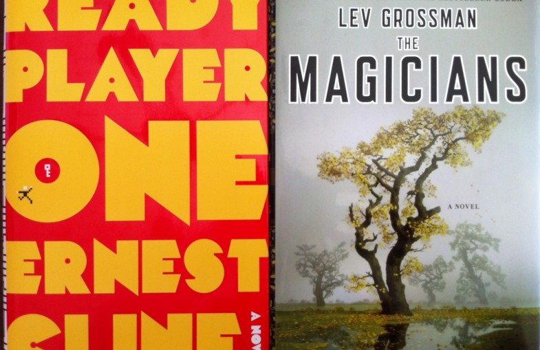 Ready Player One/The Magicians book covers