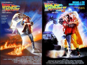 Official posters for Back to the Future 1 and 2