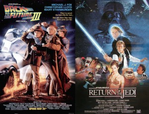 Original posters for Back to the Future 3 and Return of the Jedi