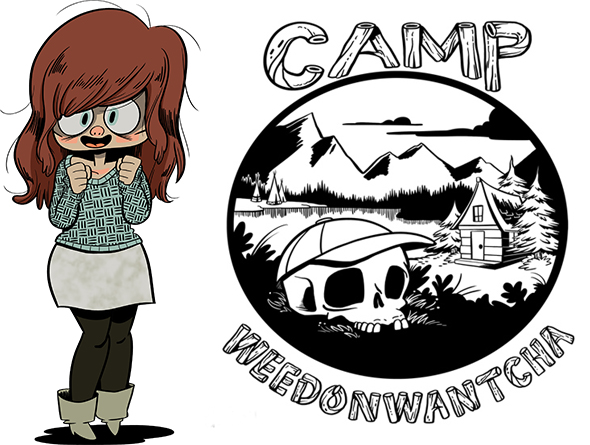 Katie Rice and Camp Weedonwantcha logo
