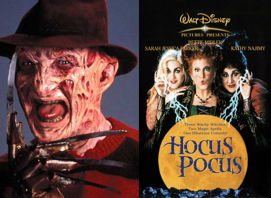 Freddy Krueger and Hocus Pocus